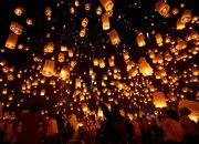 Летающие фонарики,  небесные фонарики,  китайские фонарики
