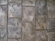штампованый бетон (топ-бетон;  прес-бетон)