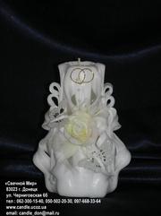Свечи свадебные,  венчальные свечи ручной работы от производителя.
