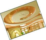 Овальный натяжной потолок Luxe Design Черновцы Стилизованные натяжные