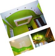 Матовый натяжной потолок Luxe Design с установкой . Гарантия