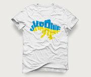 Акция! Мужская футболка «Карта Ukraine» по самой доступной цене