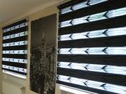 Рулонные штори,  тканевые ролети день-ночь